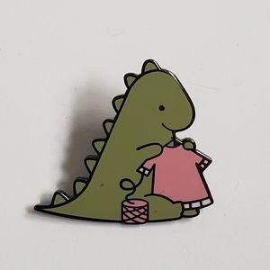 Jewelry - Dinosaur Knitting Pin